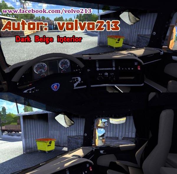 Scania Dark Beige Interior