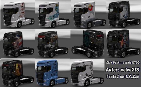 Scania R700 Skin Pack