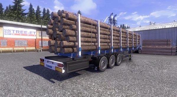 Krone Log Trailer