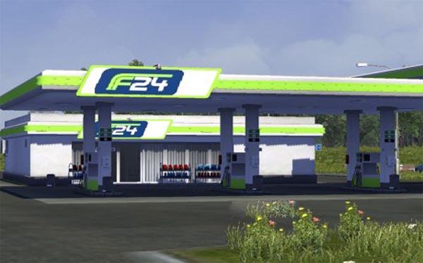 Real Danish gas station