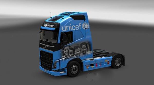 Volvo FH 2012 Unicef Skin