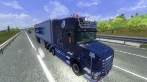 Wolf themed Scania T series skin