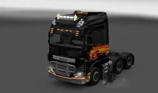 DAF XF Euro 6 Fire Skin
