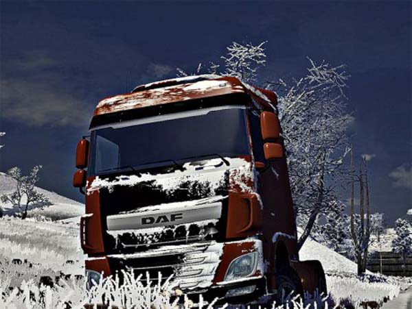 DAF XF Euro6 Snow skin
