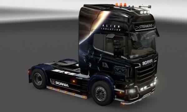 Scania Streamline Alien Isolation Skin