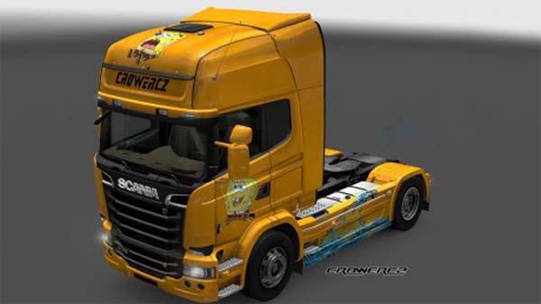 Scania Streamline Spongebob Skin