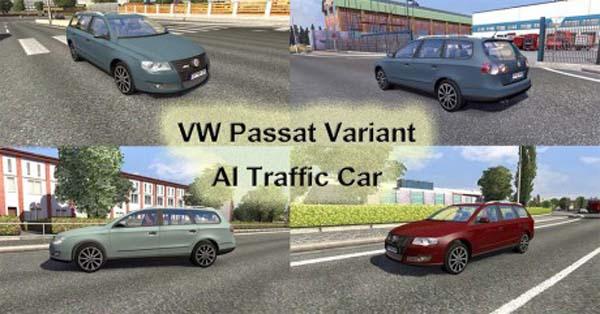 VW Passat Variant AI Traffic Car