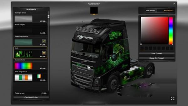 Hulk Volvo 2012 skin + trailer