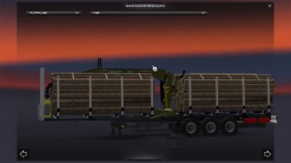 Krone Log Trailer with Logging Crane