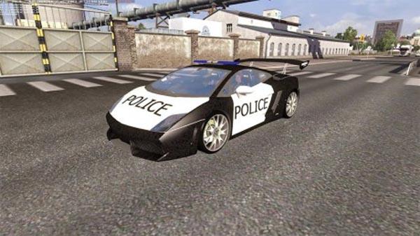 Lamborghini Police AI Traffic Car