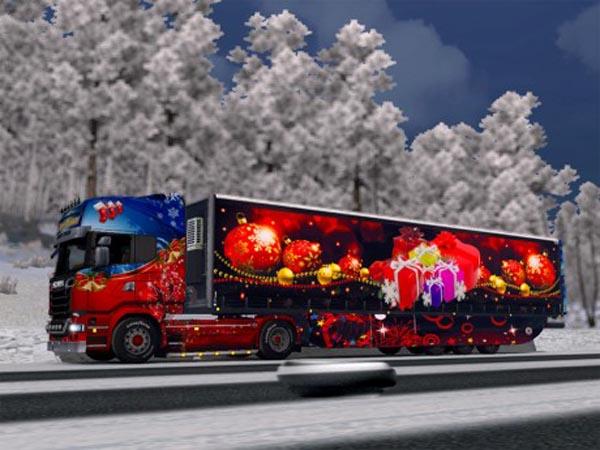 Merry Christmas to Scania trailer Aerodynamic