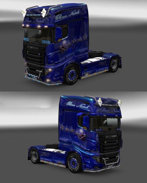 Scania r700 lux v.1 Buon Natale.metallic skin
