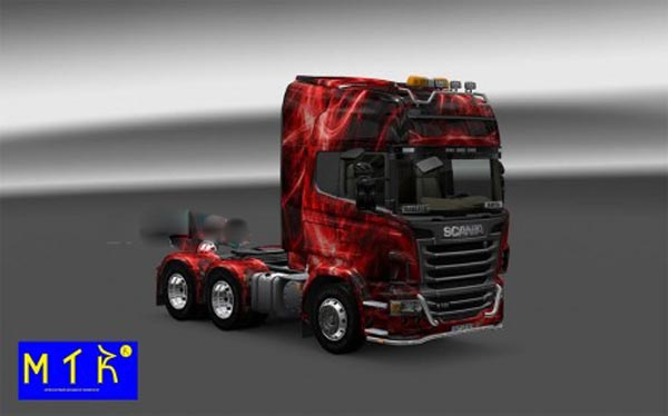 Skin Scania Red Traces