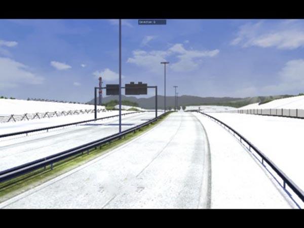 Snow on some roads Mod 1.5