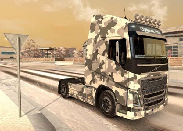 Volvo FH 2012 Army Winter Skin