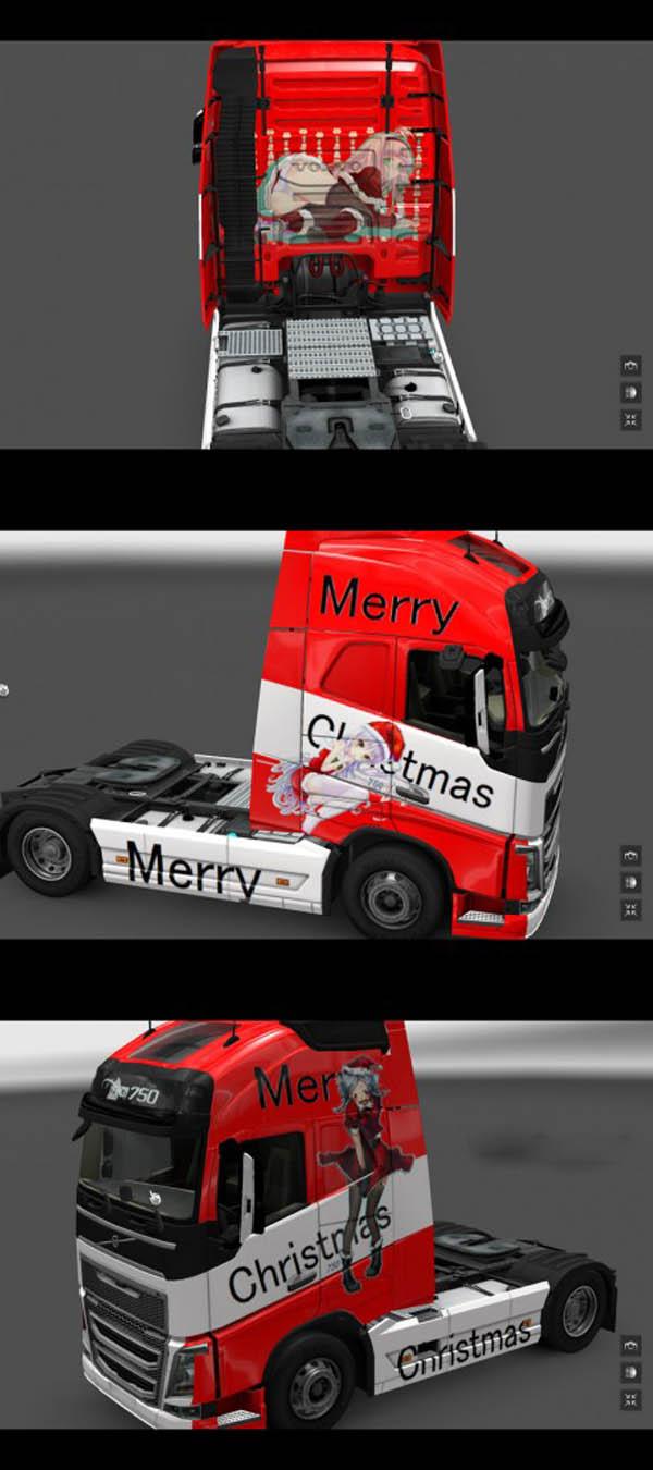 Volvo FH 2012 Merry Christmas Skin