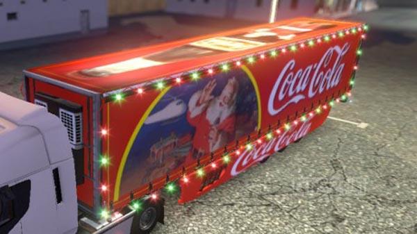 Xmas coca-cola trailer