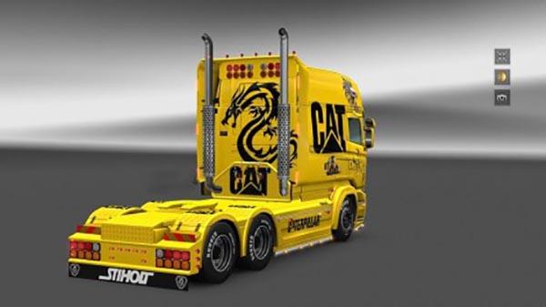 Skin caterpillar Scania RJL Longline