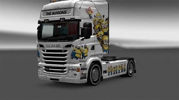 The Minions skin for Scania Streamline RJL