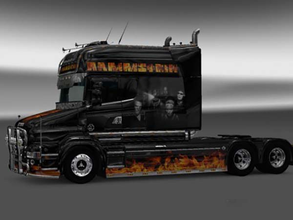 Rammstein Flame Skin for RJL SCANIA T Longline 2.0