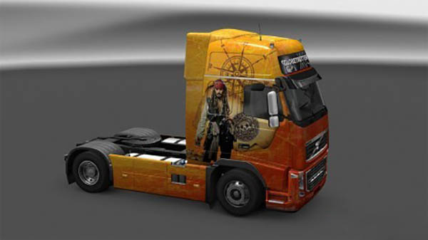 Volvo FH16 Pirates of the Caribbean Skin
