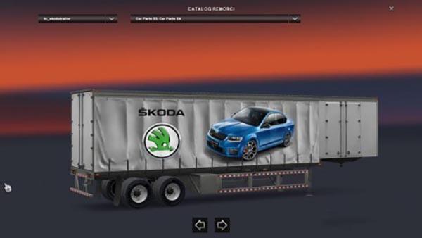 Škoda Standalone American Curtain Trailer