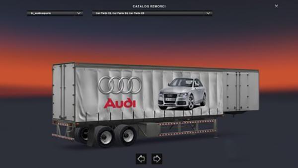Audi Curtain Trailer