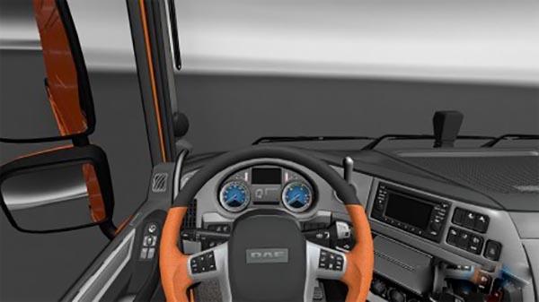 DAF XF Euro6 Dashboard blue