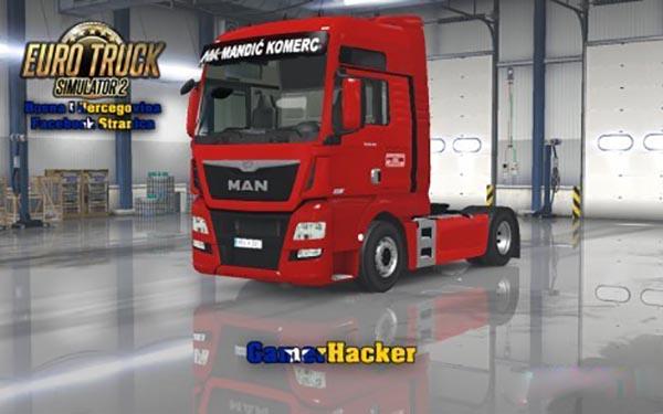 MAN TGX E6 Mandic Red Skin