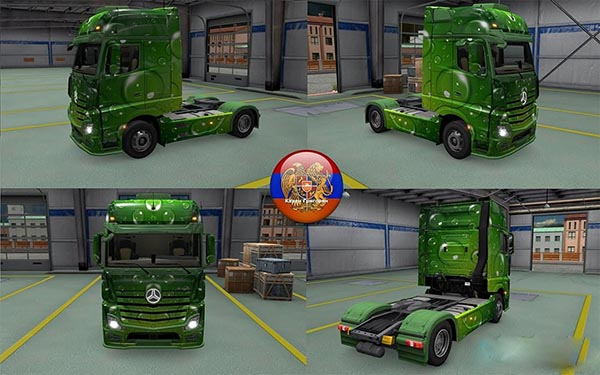 Mercedes Actros MP4 Drops Skin