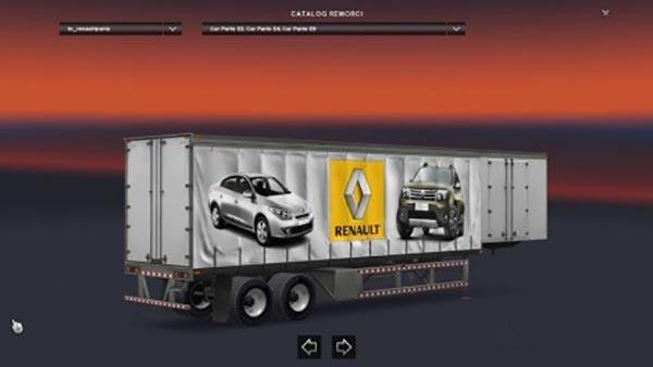 Renault Curtain Trailer
