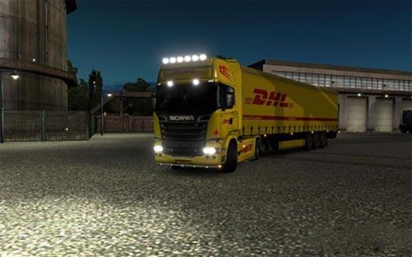 Scania DHL combo