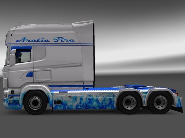Scania RJL R Longline Arctic Fire Skin