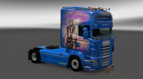 Scania RJL Resident Evil Skin