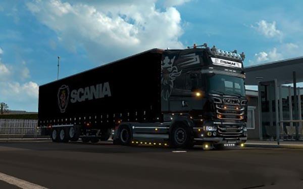 Scania Streamline RJL Black Skin and Lightbox