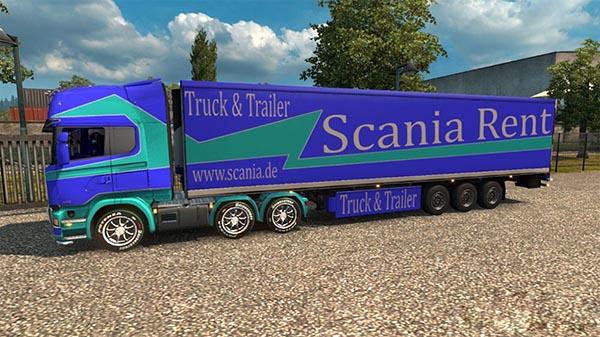 Scania Streamline Scania Rent skin pack