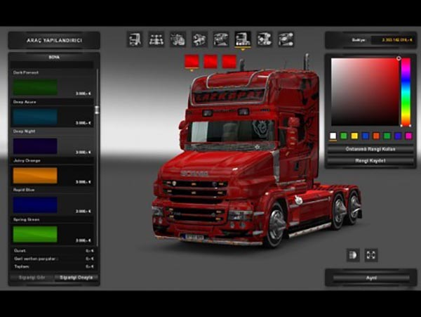 Scania T Metalic Skin