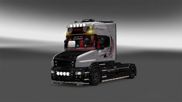 Scania T silver griffin skin