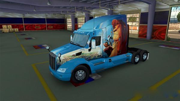 Skin King lion for Peterlbilt 579