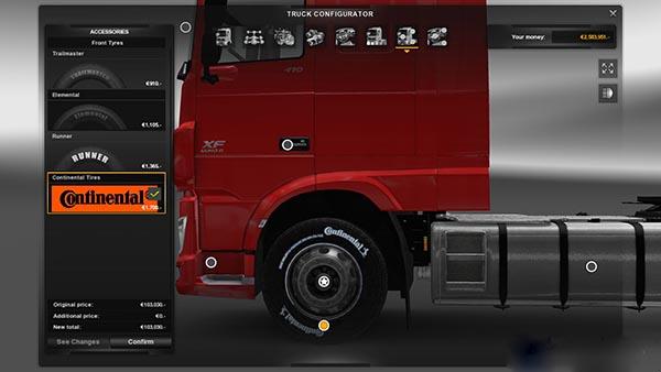 Continental Tires & Chrome Rims v 1.1