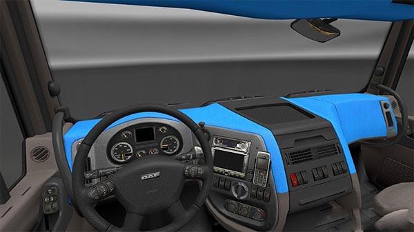 DAF XF 105 Blue Interior