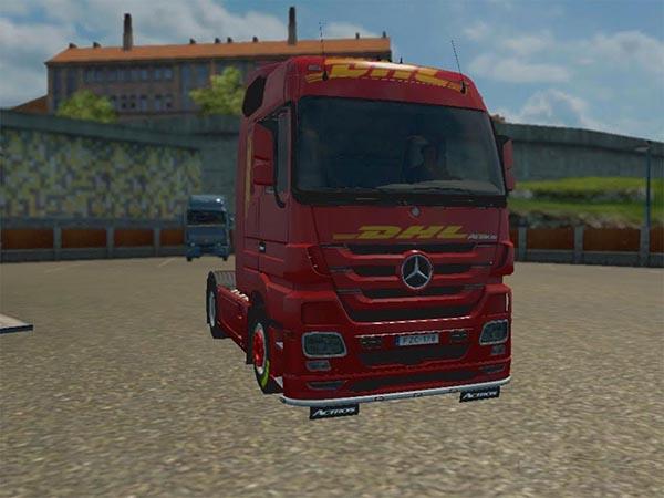 DHL skin for Mercedes Actros