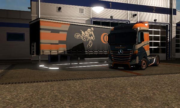 MB Actros MP IV 2014 + trailer Continental Skin