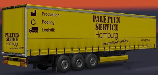 Palettenservice Hamburg Doublepack Trailer