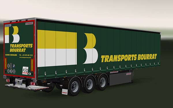 Trailer Fruehauf MaxiSpeed Transports Bourrat