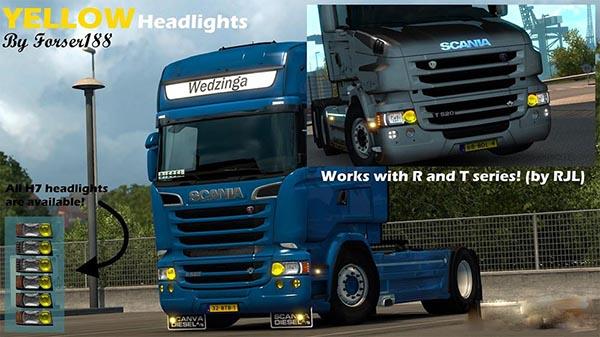 Yellow headlights for RJL FIX
