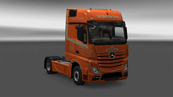 Mersedes New Actros M.Way&Son skin
