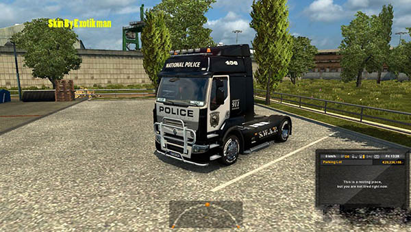Renault Premium Police Skin