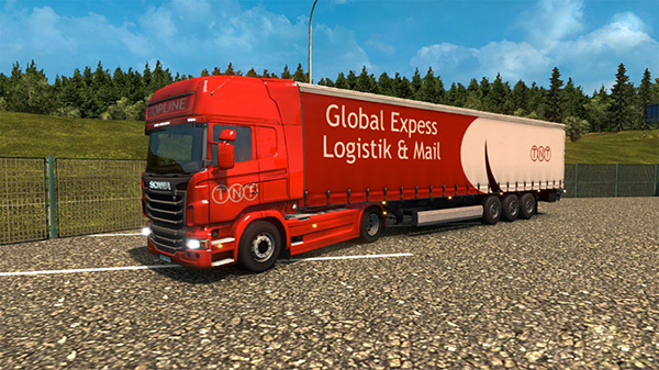 Scania R Streamline TNT Skins and trailer