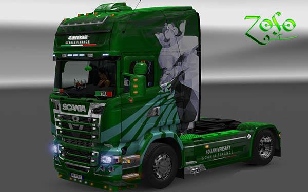 Scania RJL Emerald 40° Anniversary Scania Finance Skin